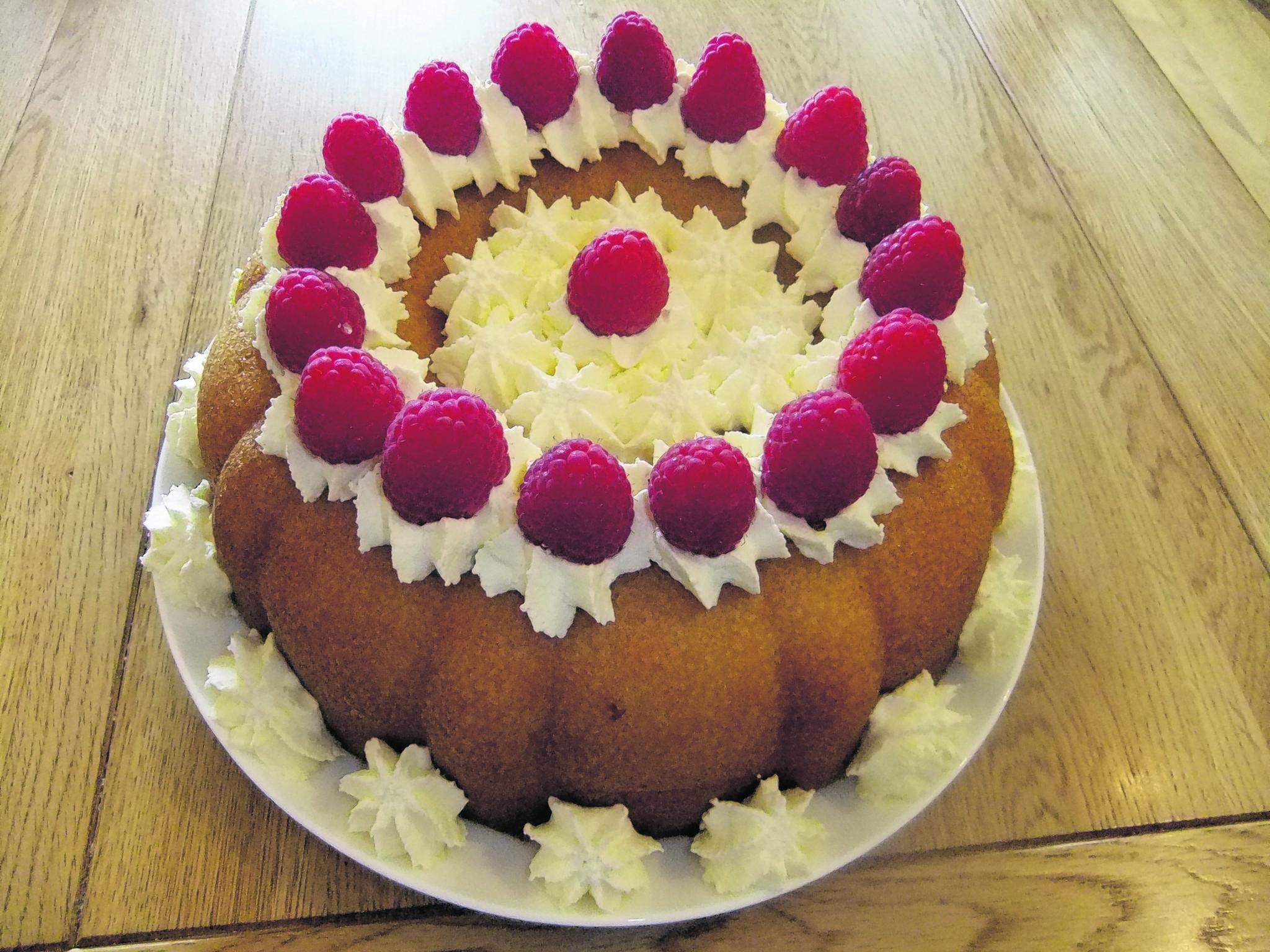 Norman Calder's savarin cake