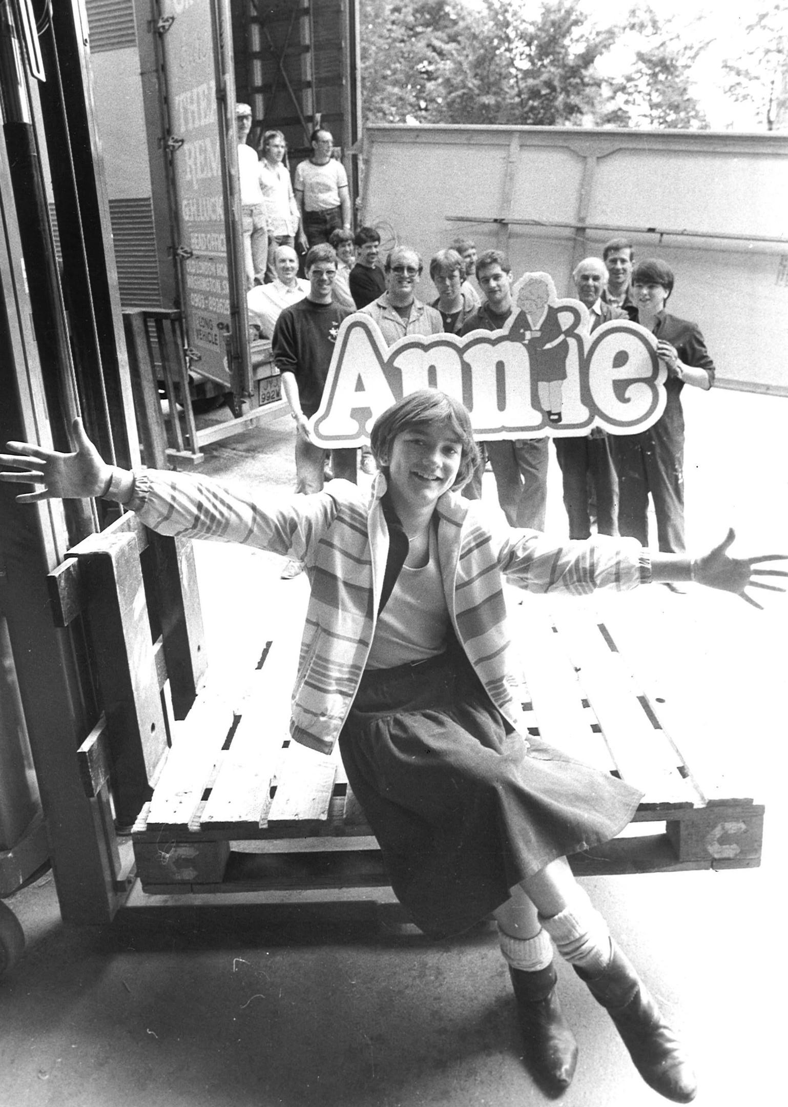 13-year-old Claudia Bradley stars as Annie in 1983