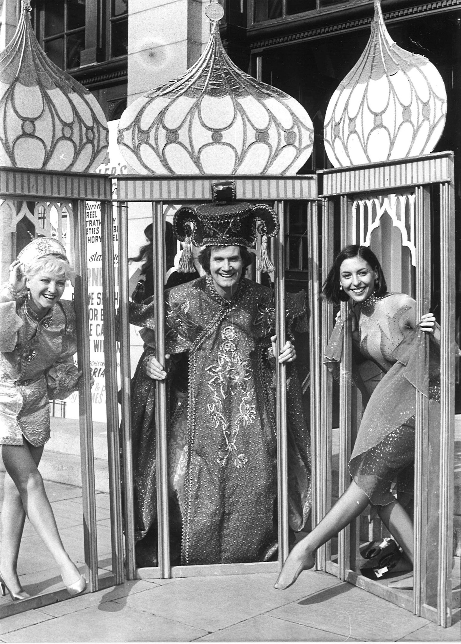 Edwina Lawrie (left), who is the sister of Scots singer Lulu, played Aladdin at the theatre in 1984