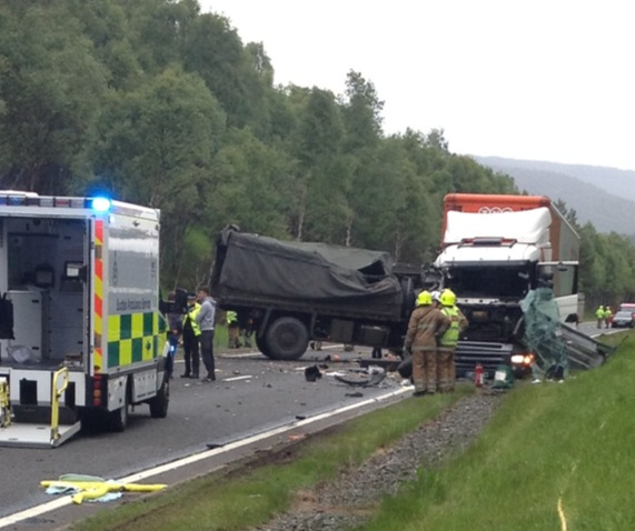 Four vehicles were involved in the crash which claimed the life of a 23-year-old man