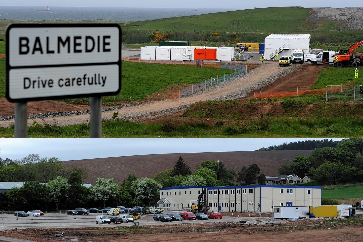 The Aberdeen Western Peripheral Route  offices in Balmedie and Stonehaven. Picture by KENNY ELRICK
