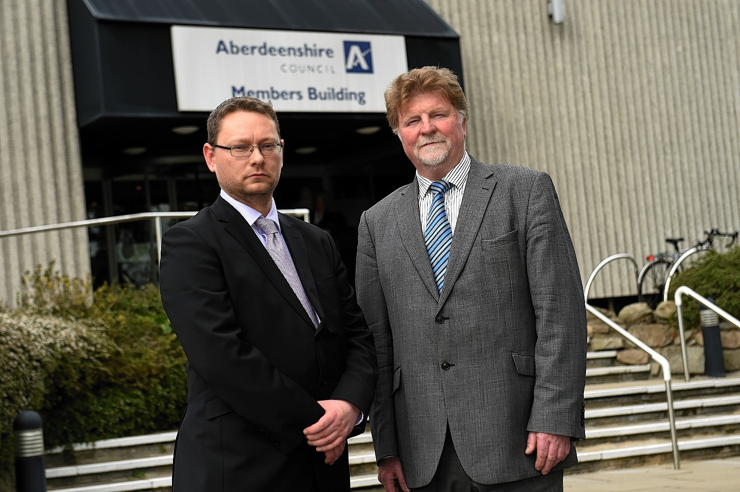 Aberdeenshire Council's co-leaders Richard Thomson and Martin Kitts-Hayes