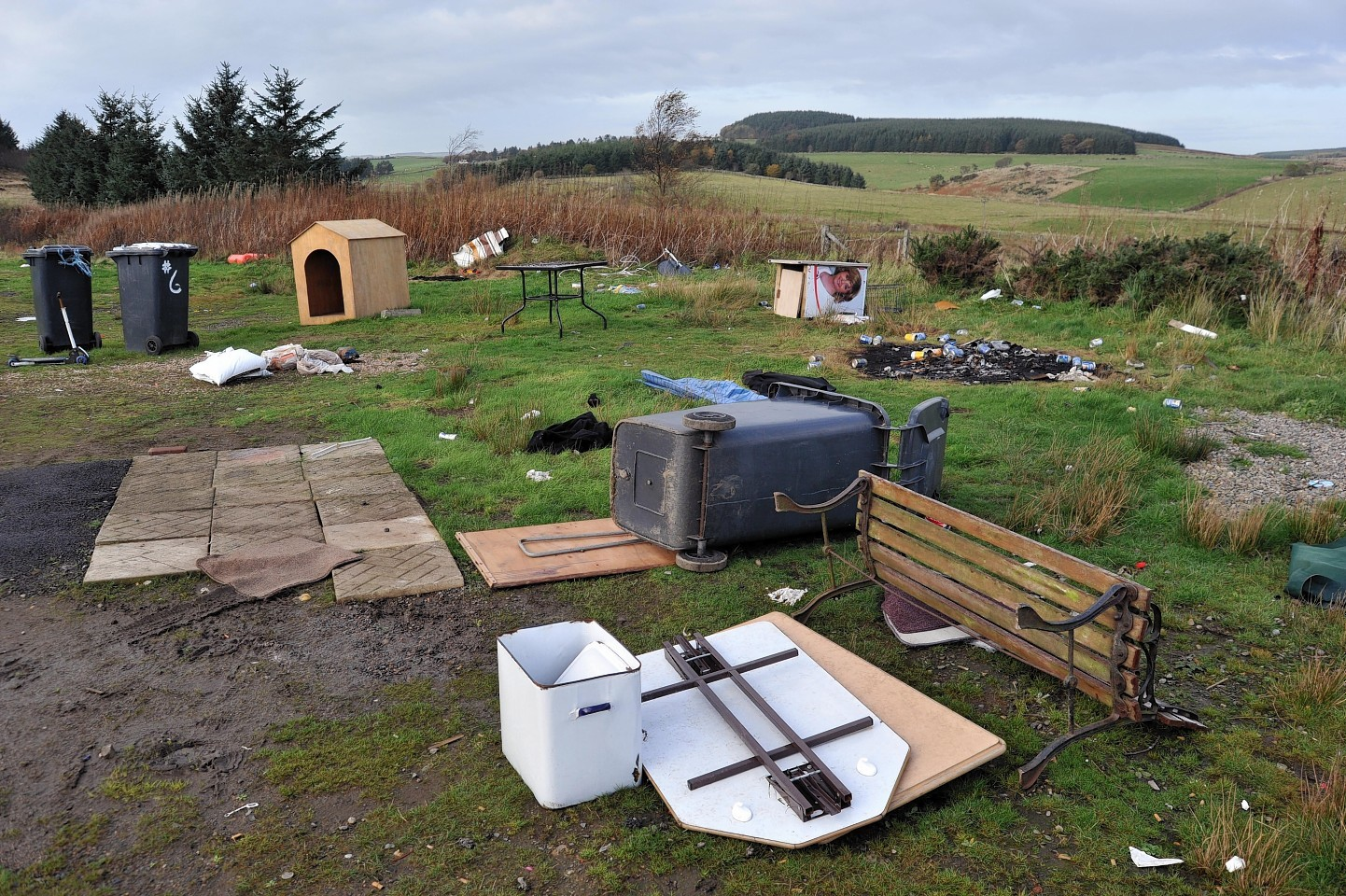 Aikey Brae after the travellers had previously stayed there.