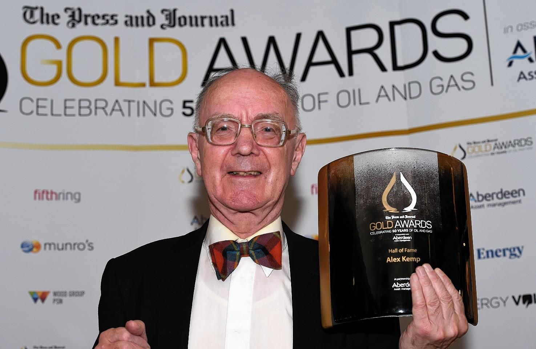 Professor Alex Kemp with his award