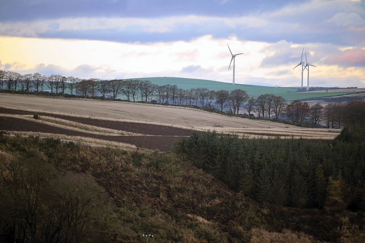 The site of the proposed turbines