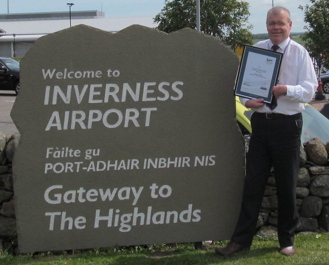 Callum SmIth of Inverness Airport