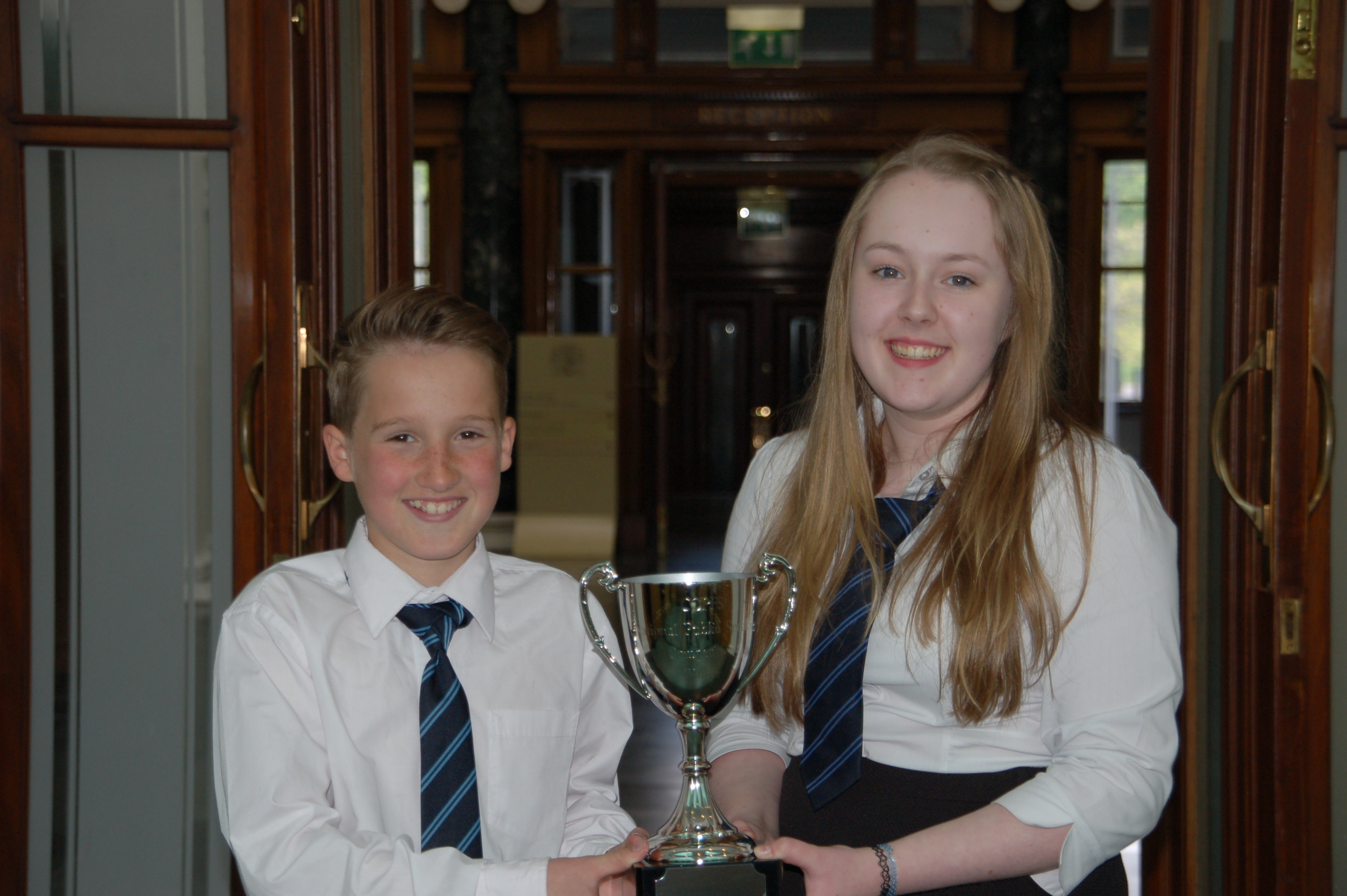 Cameron Cochrane and Morvern Carmichael with their trophy