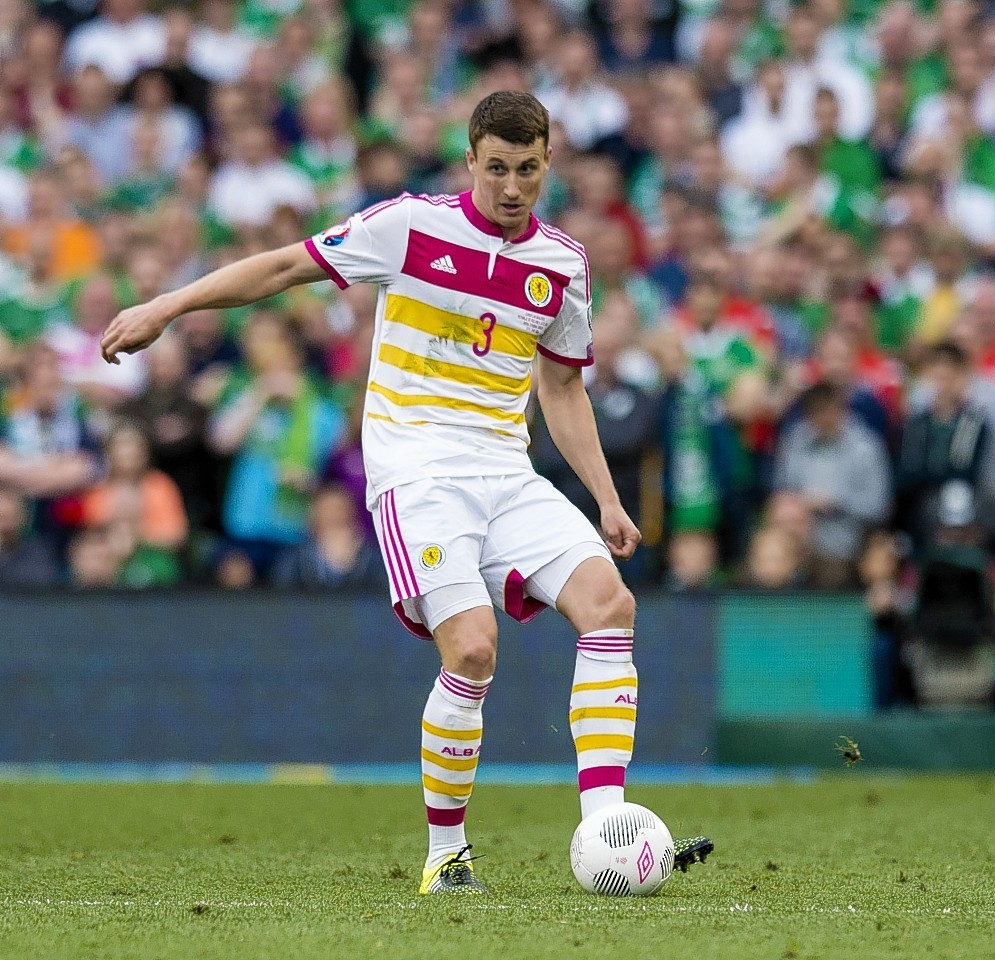 Craig Forsyth in action for Scotland