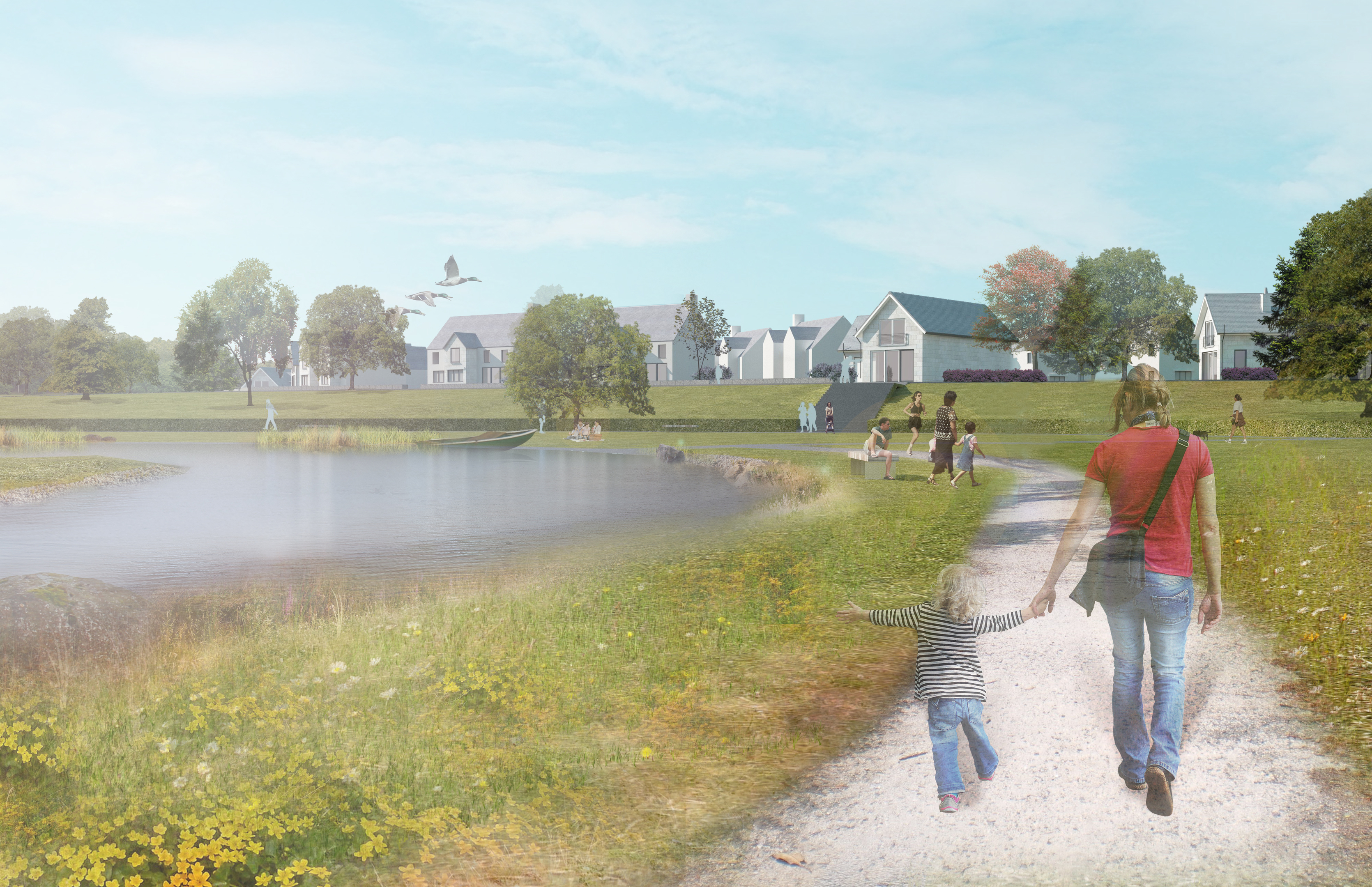 New images of the plans for 1,500-home Kincluny Village development in Drumoak.