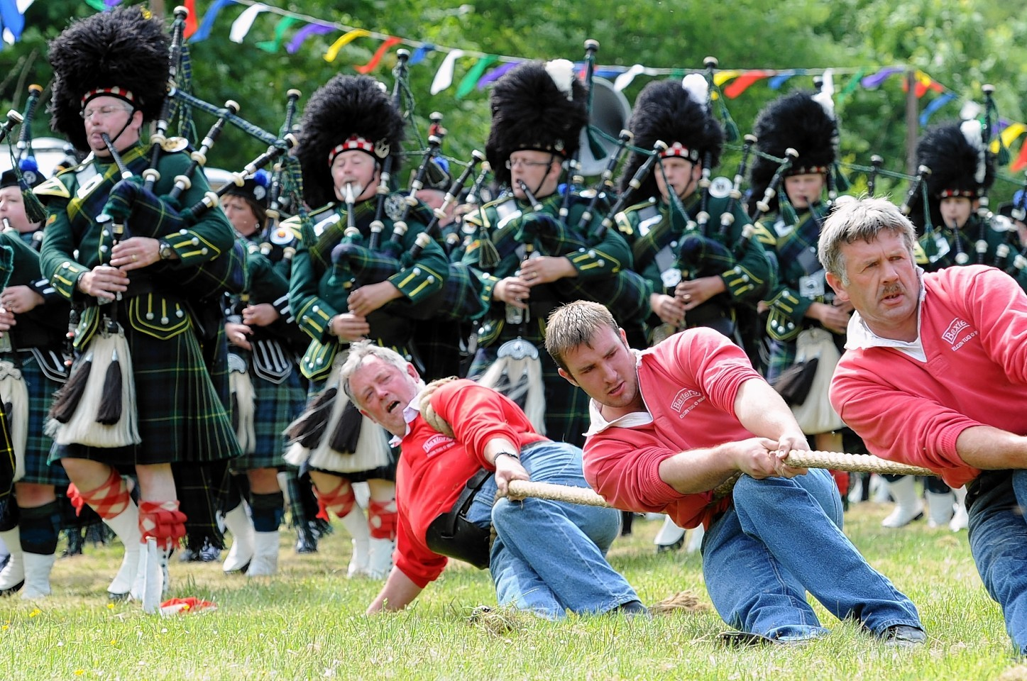 Elgin compete at last year's Drumtochty Highland Games. Picture by Kami Thomson