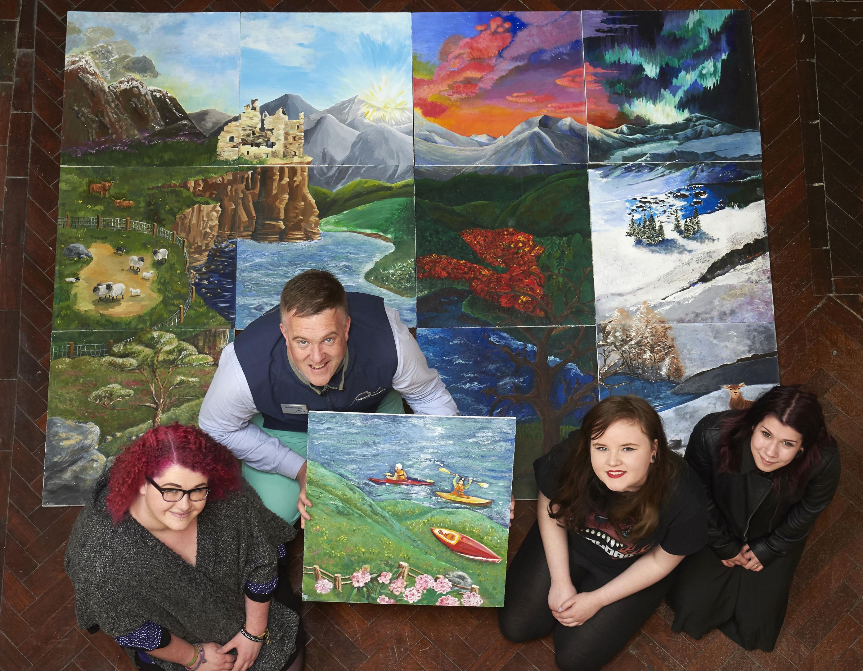 Inverness College Highland Campervans mural.