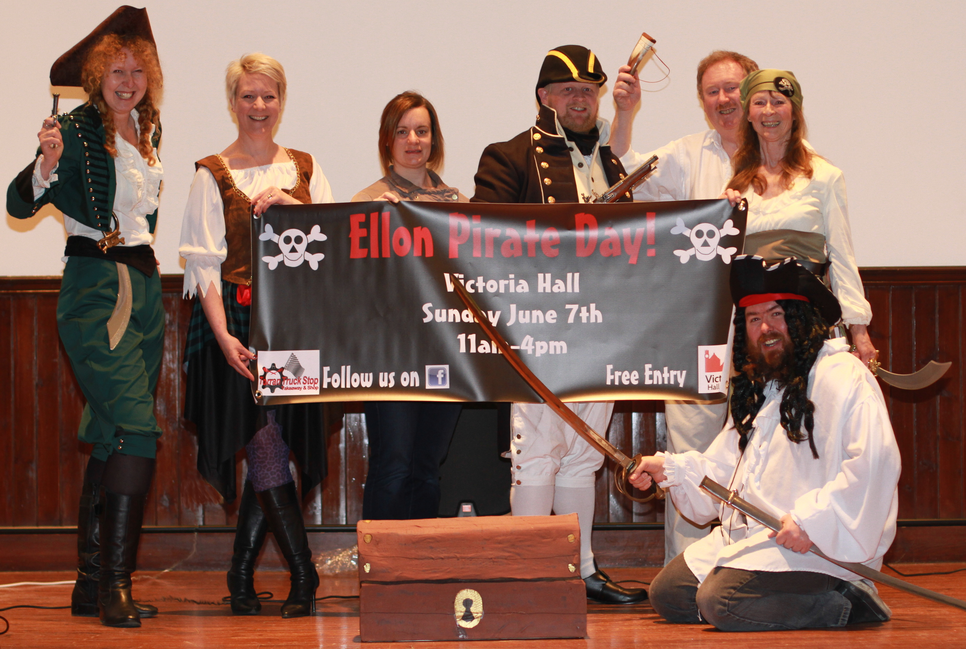 The Ellon Cinema team in their pirate costomes