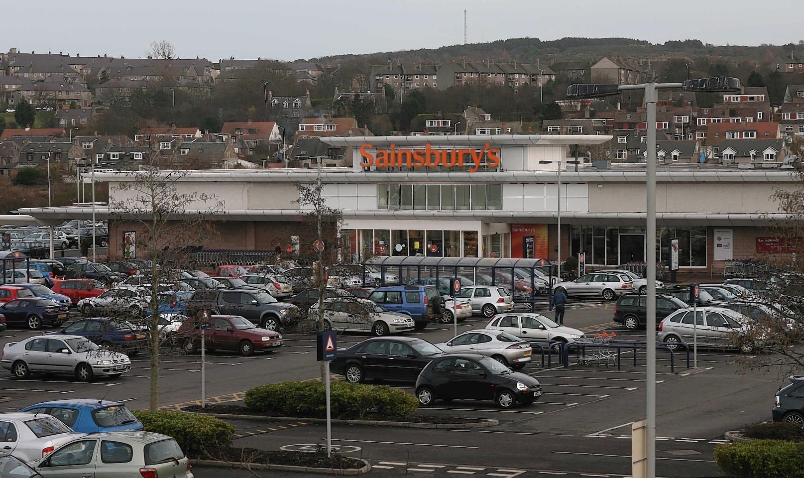 The cars were parked near Sainsbury's in Garthdee