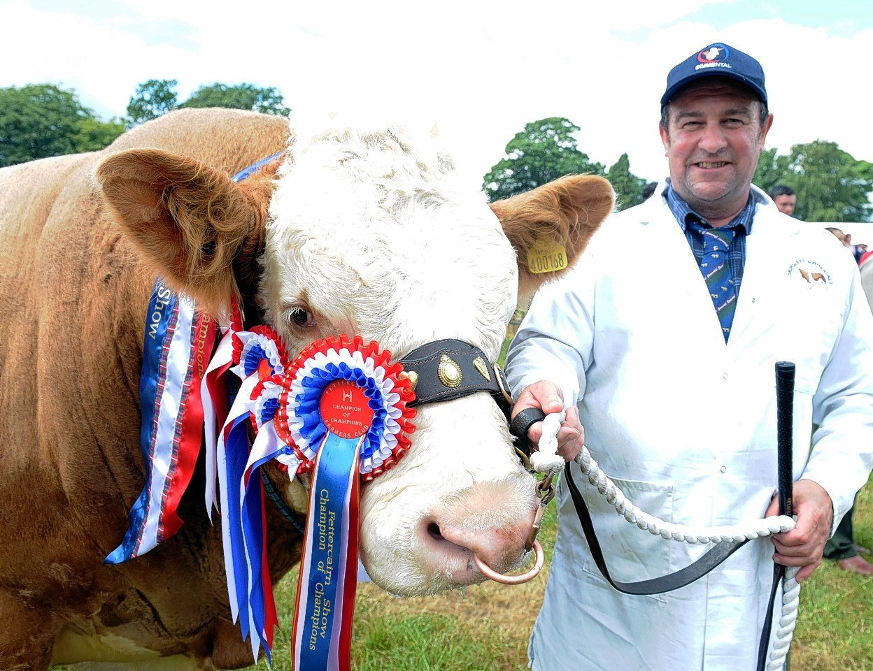 Gerald Smith with his champion bull