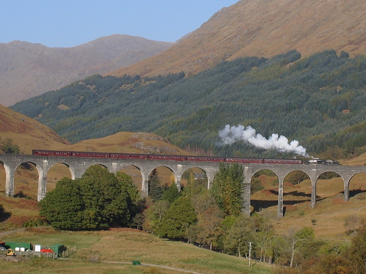The Glenfinnan Viaduct, made famous in the Harry Potter films, is part of the West Highland Line