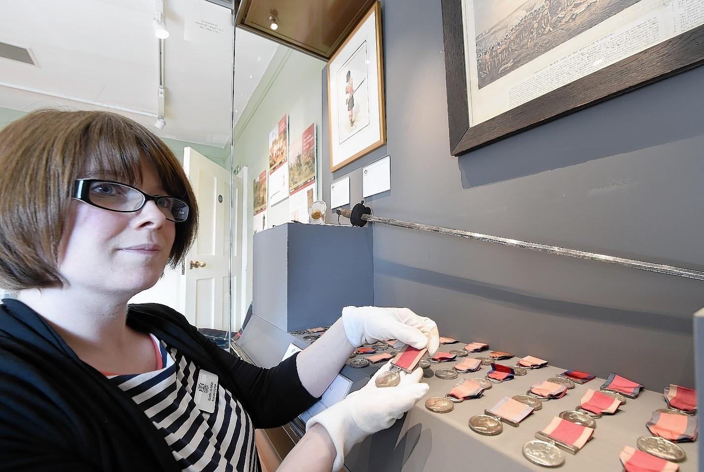 Kirstin Macka at the Highlanders Museum.