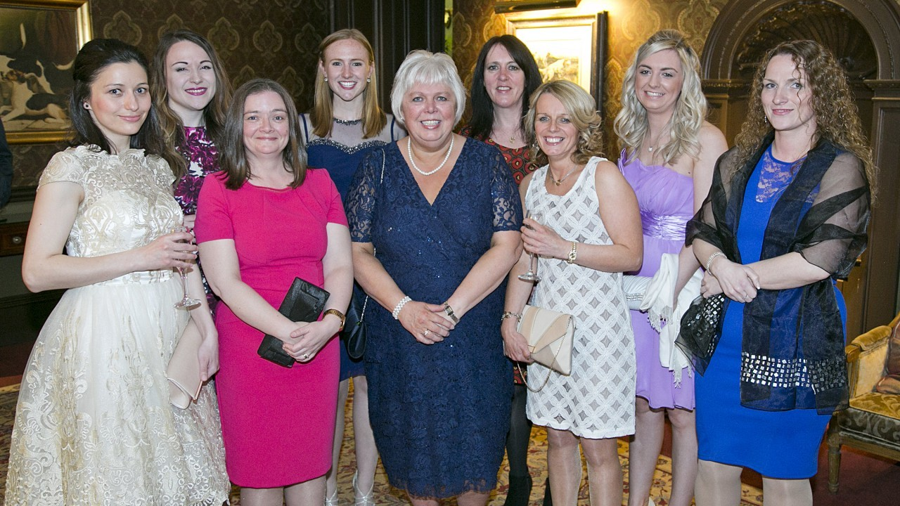 L-R Mihaela Maichan, Kirsty Gordon, Michelle Fowler, Mari-Anne Maskew, Carol Dyer, Jenny Carruthers, Carol Argo, Sarah McDonald and Alison McClory
