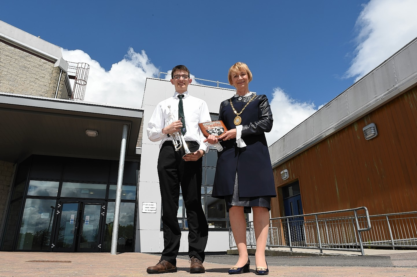 Aberdeenshire provost Jill Webster opened the new facility.