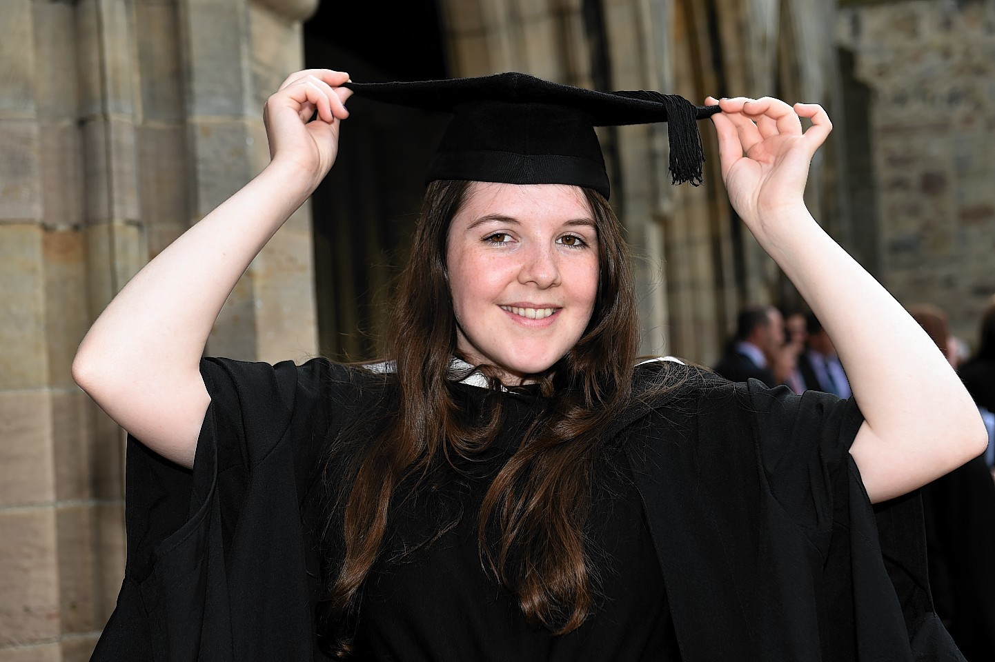 Lily Scanlon graduating at Elphinstone Hall. Picture by Kenny Elrick