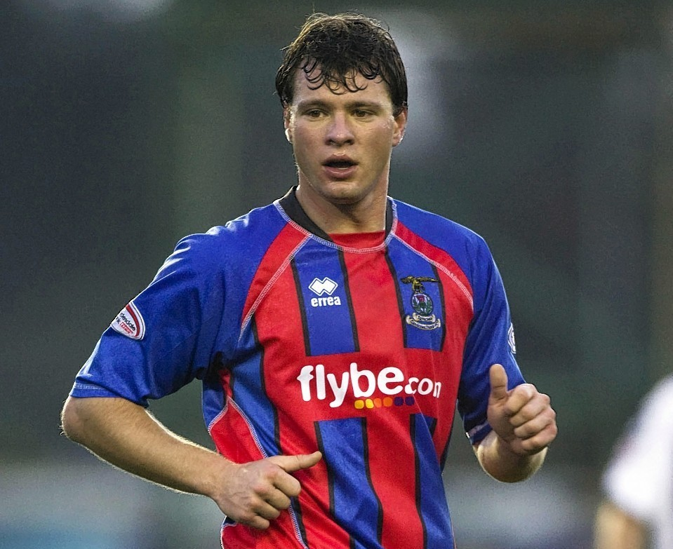 Marius Niculae in action for Inverness Caley Thistle