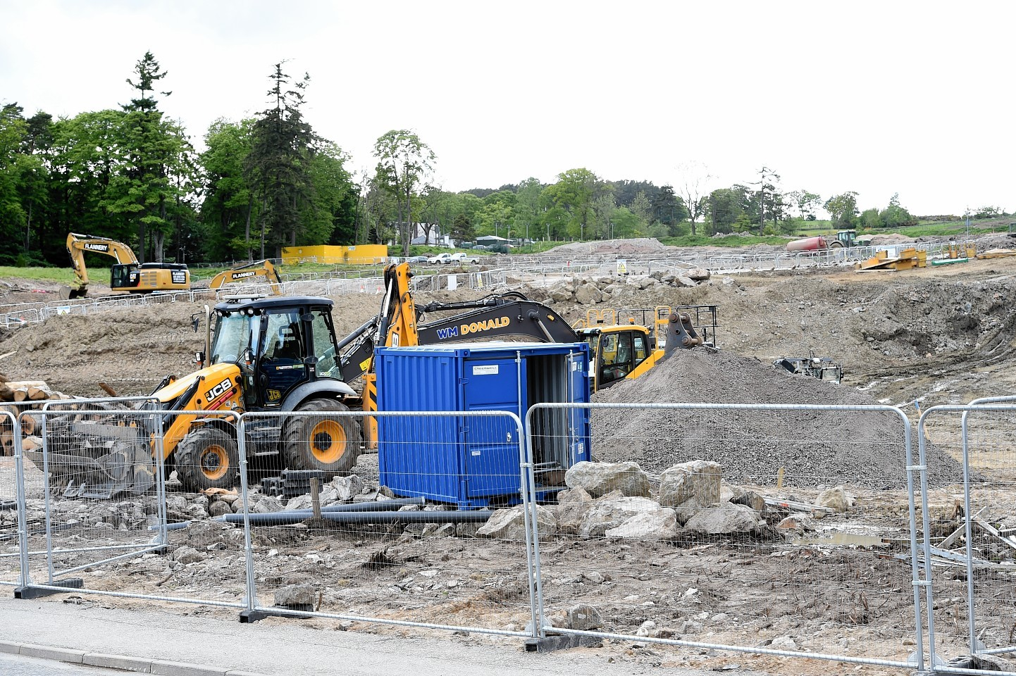 The work on the AWPR on North Deeside Road at Milltimber. Picture by Jim Irvine