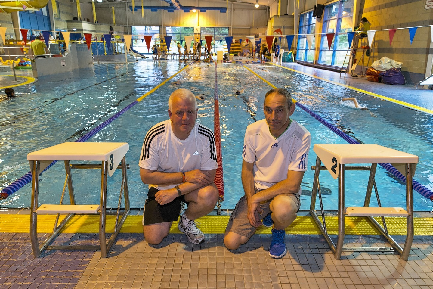 Elgin Swimming Club assistant coach Andy Northover and head coach Andy Summers