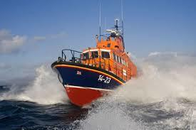 The Leverburgh lifeboat was launched