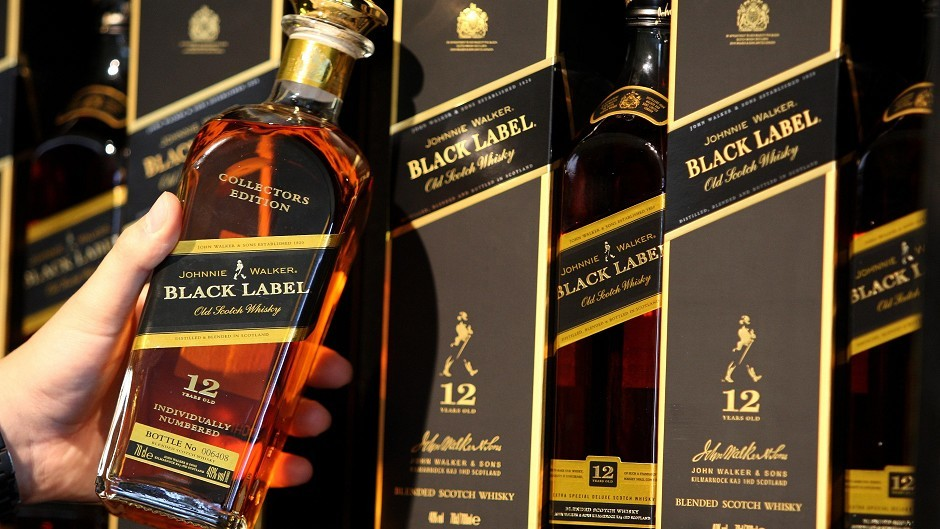 Diageo, which makes Johnnie Walker whisky, is one of the world's largest producer of spirits
