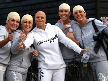 The plight of Jade Goody (centre) raised awareness of cervical cancer