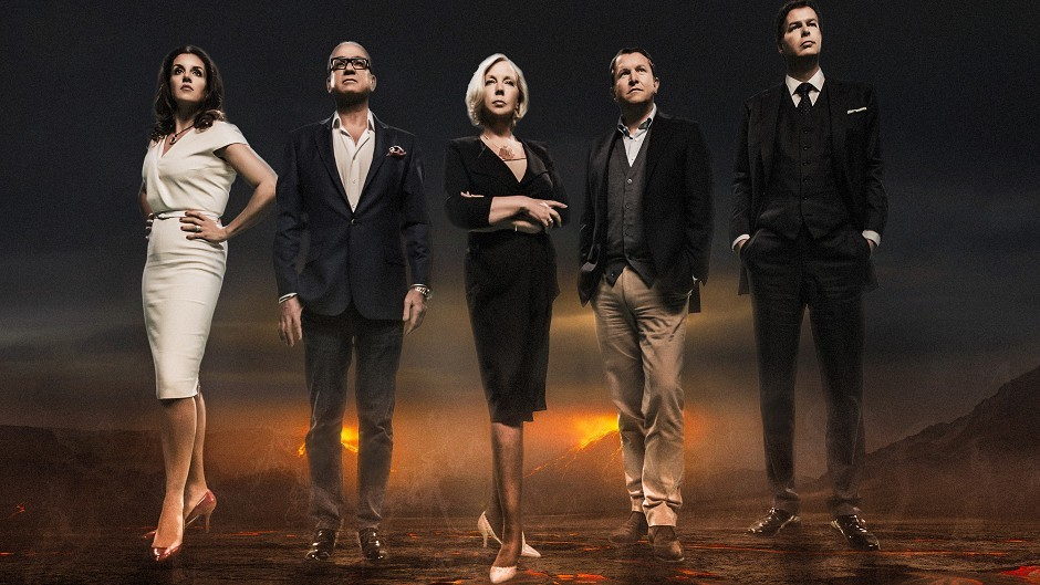 Sarah Willingham, Touker Suleyman, Deborah Meaden, Nick Jenkins and Peter Jones, who have been unveiled as the latest entrepreneurs to star in Dragon's Den