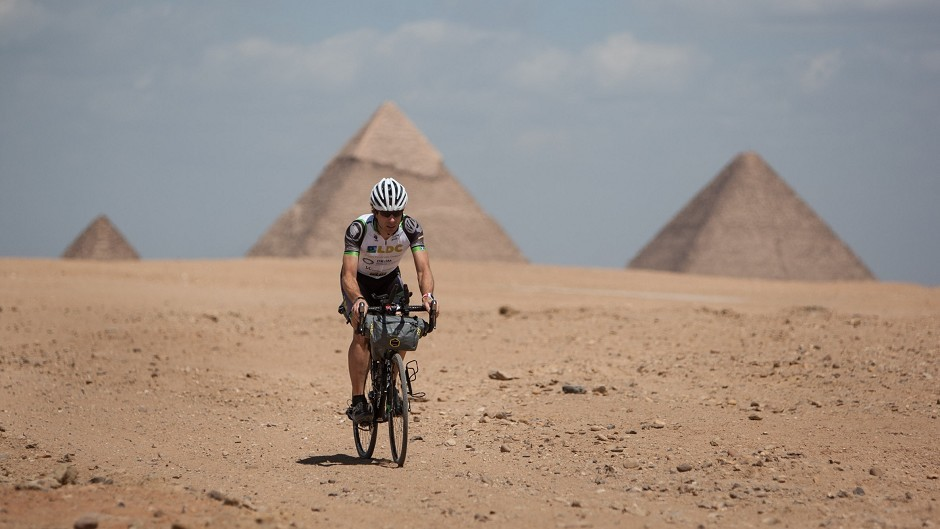 Mark Beaumont started his African adventure in Cairo, Egypt (Jeremy Sutton-Hibbert/PA Wire)
