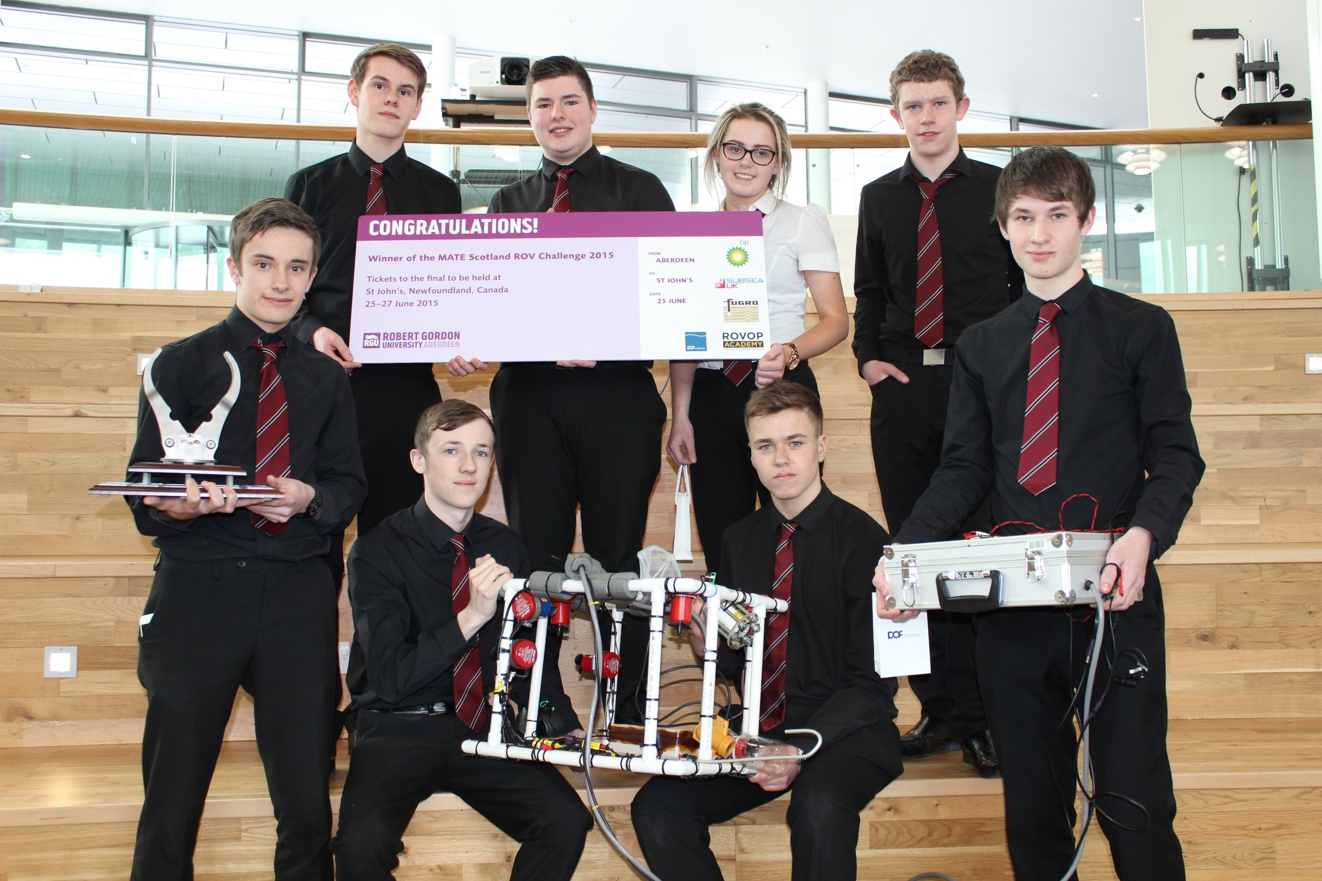 Peterhead Academy MATE ROV team
