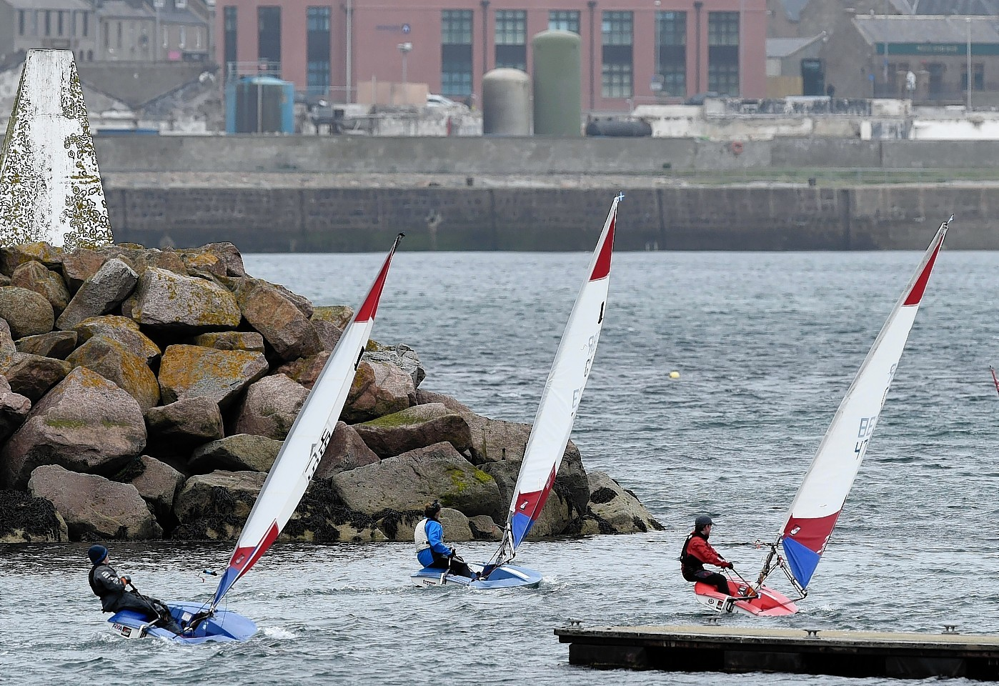 Yachts racing in Peterhead