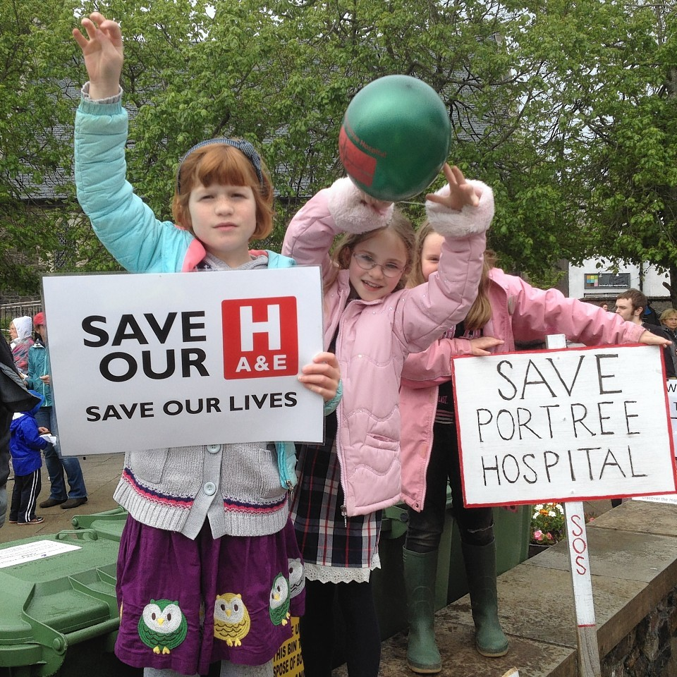 Portree Hospital campaigners.