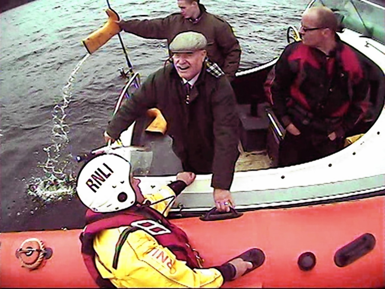 The rescue operation on Loch Ness