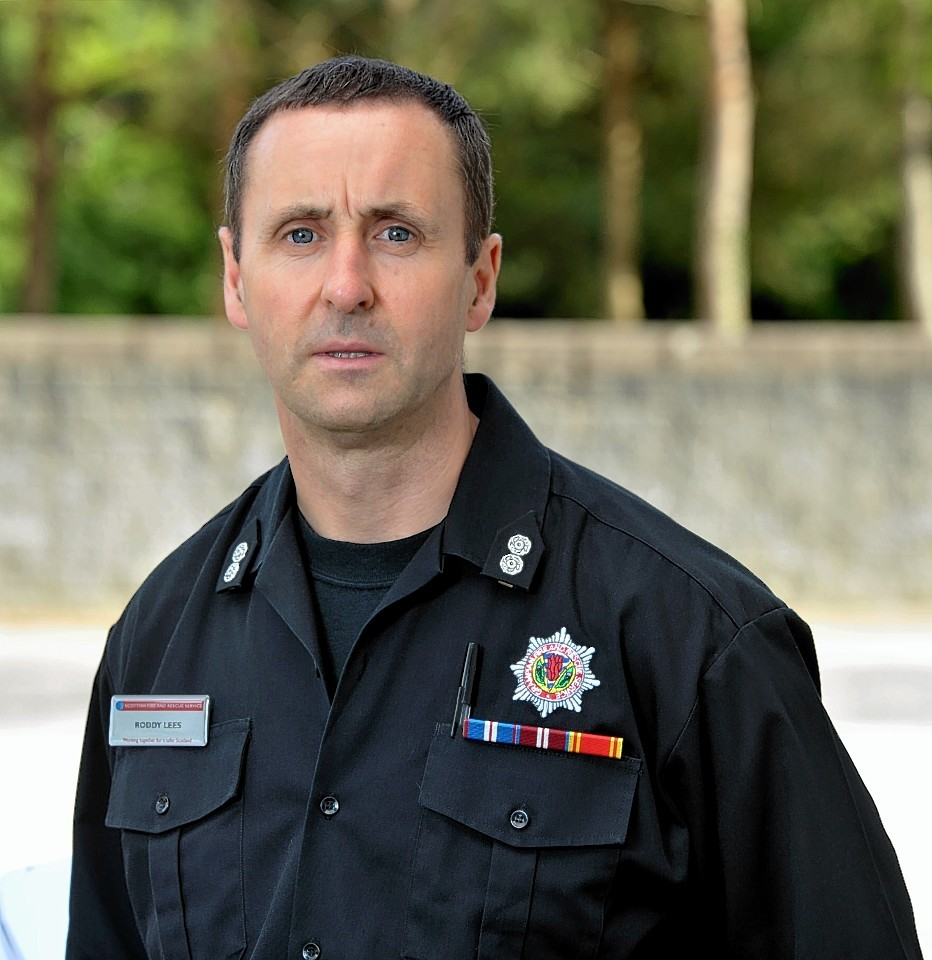 Roddy Lees, Banchory fire and rescue watch manager, is chairman of the Banchory Area First Responders.