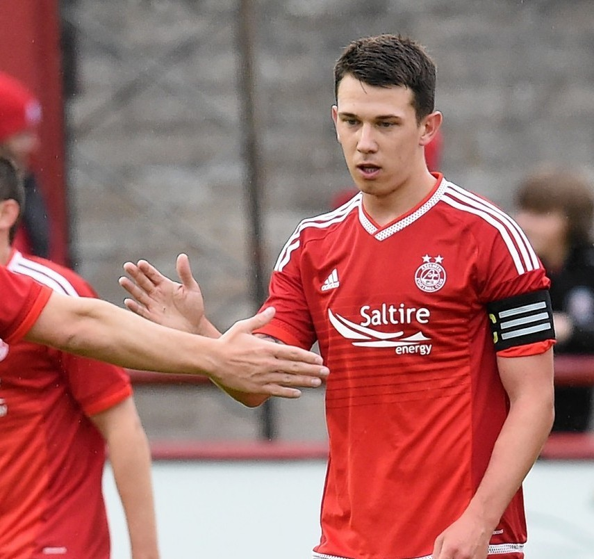 Ryan Jack captained the Dons to victory against Brechin