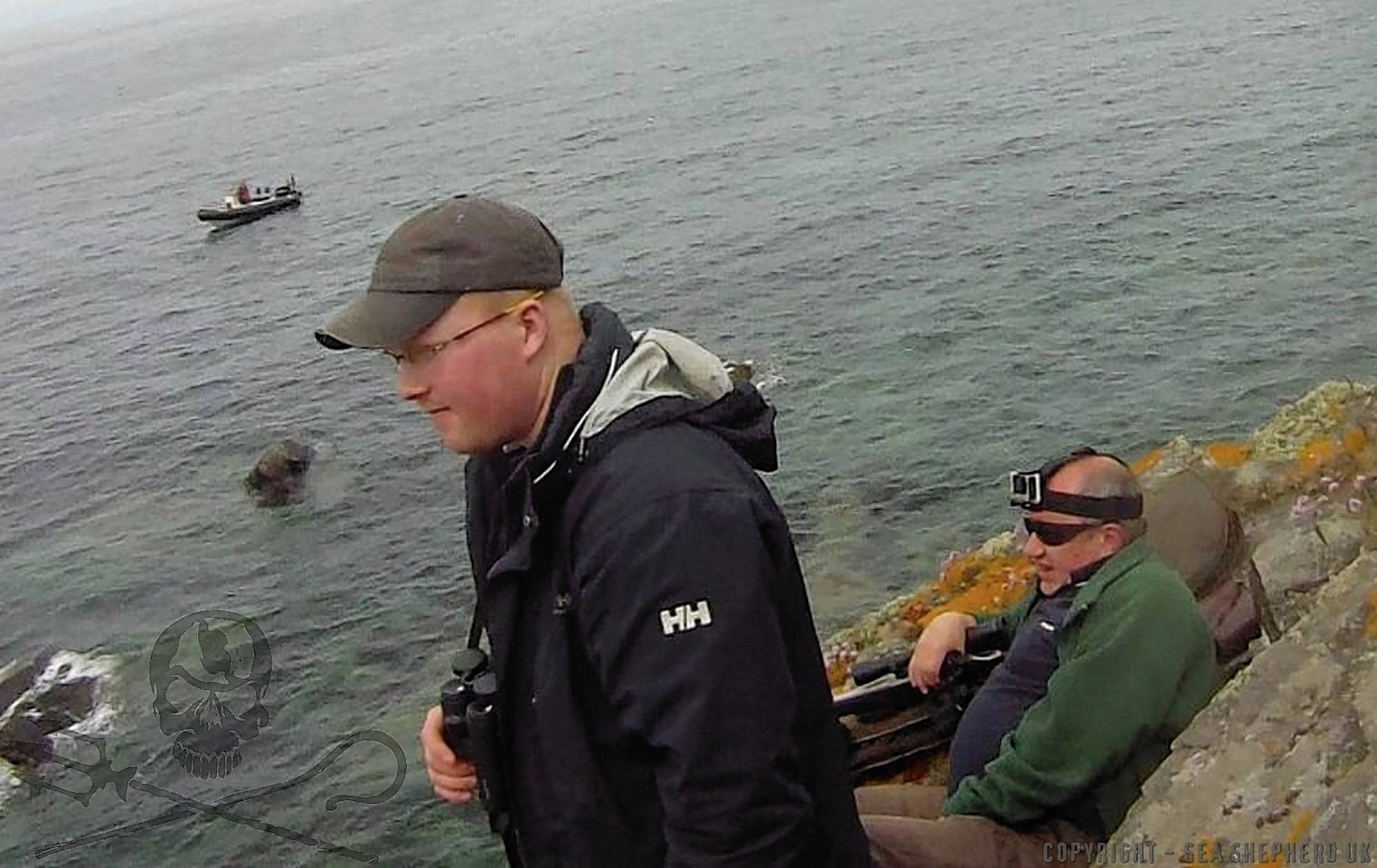 Sea Shepherd campaigners confronted the marksmen at Crovie