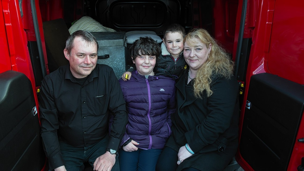 Bradley Simpson was found sleeping in the father's van