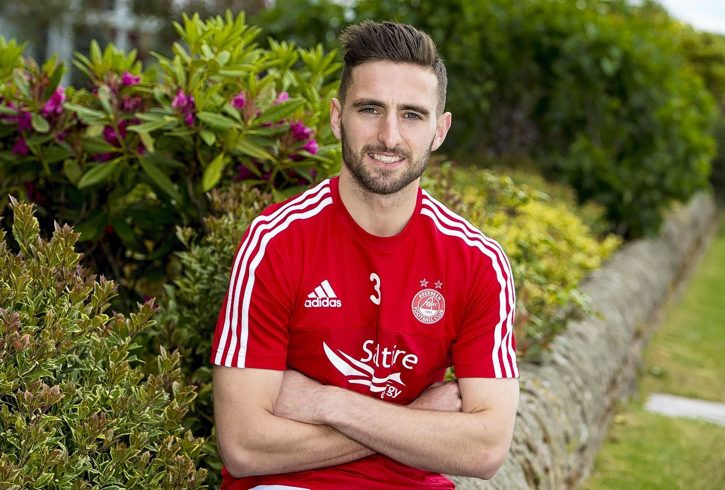 Graeme Shinnie at Aberdeen's training base at St Andrews