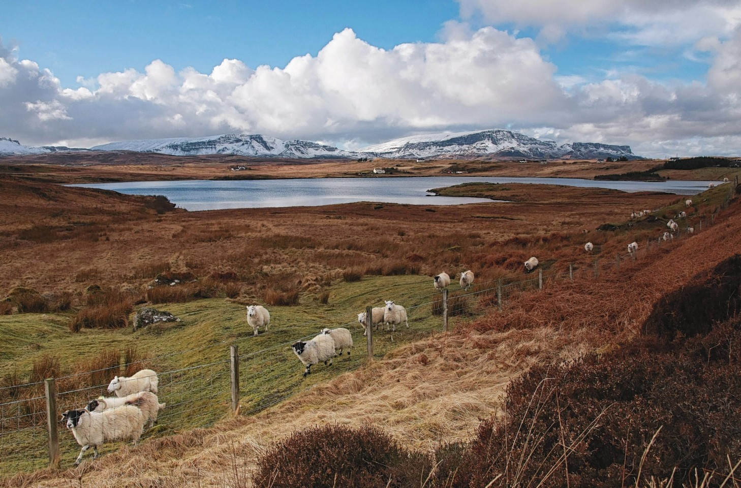 Scenic landscape of Staffin, on the Isle of Skye