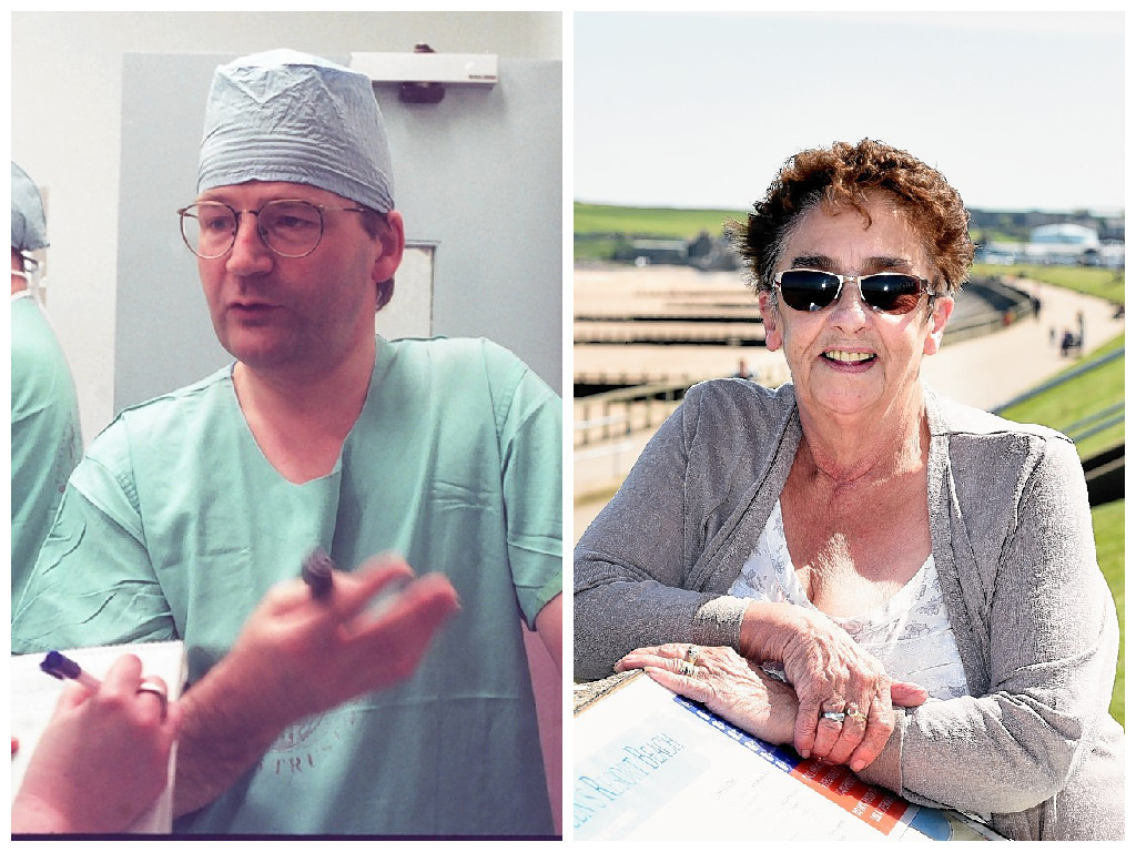 Campaigning for the queen's surgeon, Zygmunt Krukowski is Diane Smith