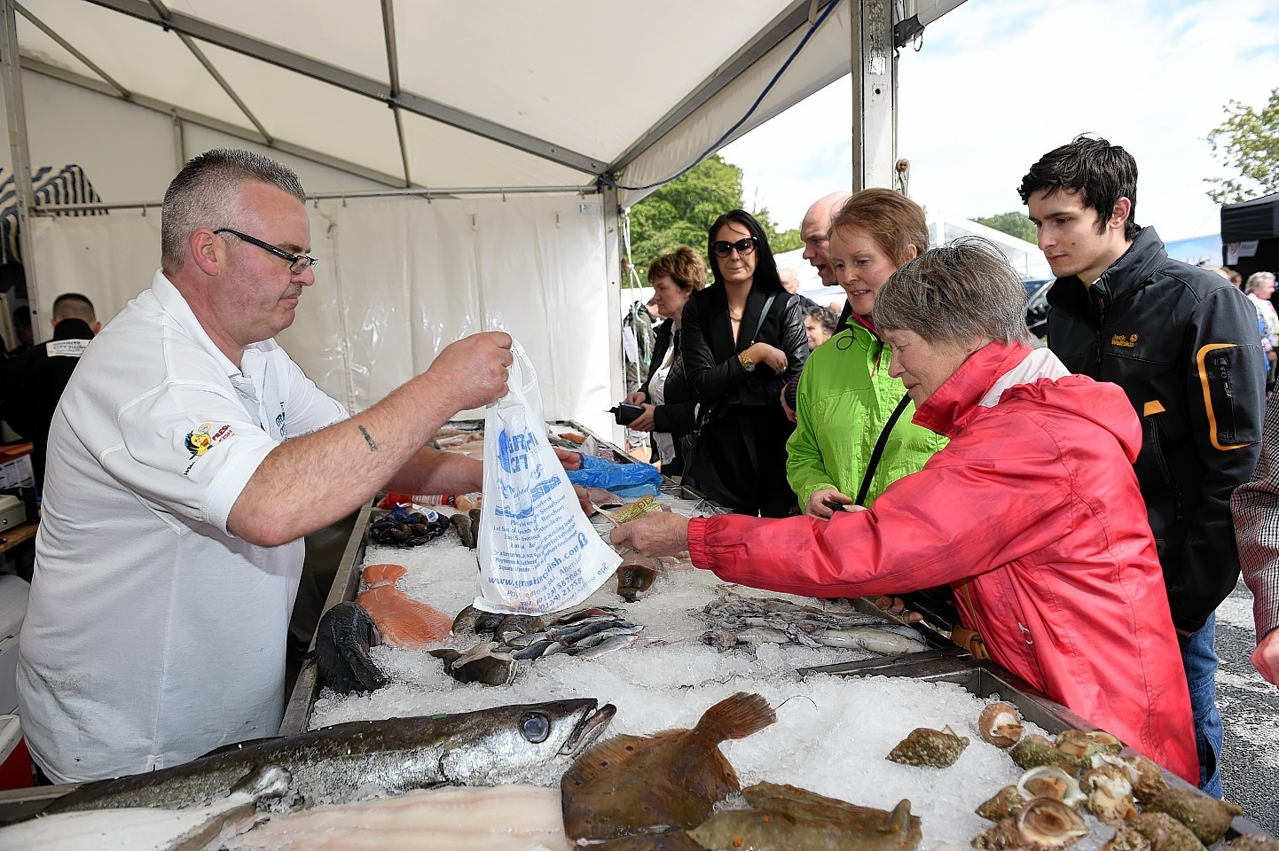 Taste of Grampian food and drink festival 2015 held at Thainstone, Aberdeenshire.