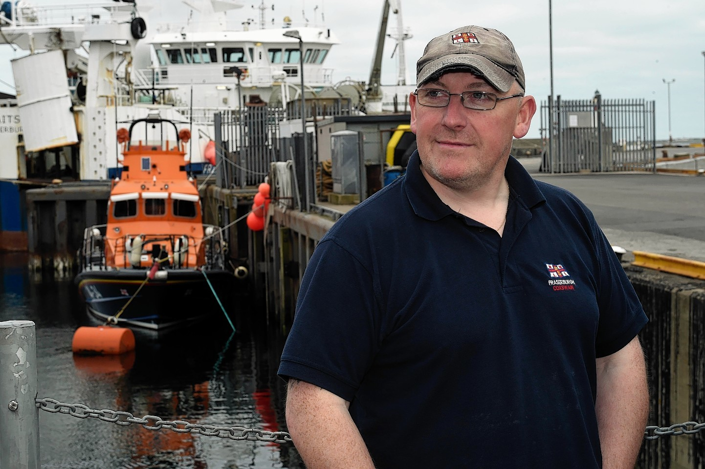 Victor Sutherland, the coxswain of the Fraserburgh Lifeboat.