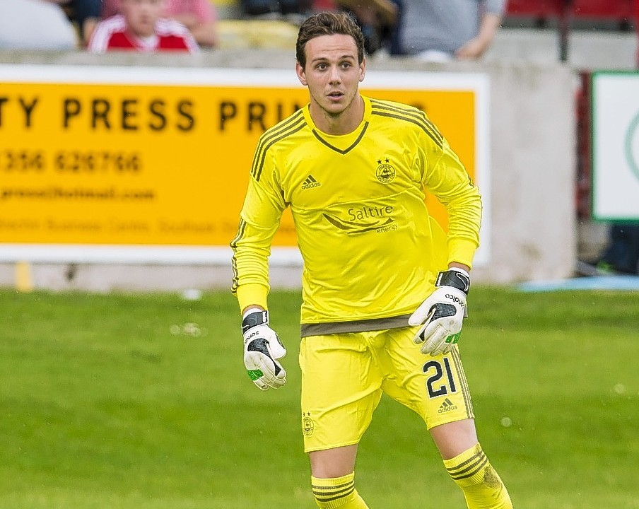 New Dons goalkeeper Danny Ward made his debut from the bench in Sunday's friendly