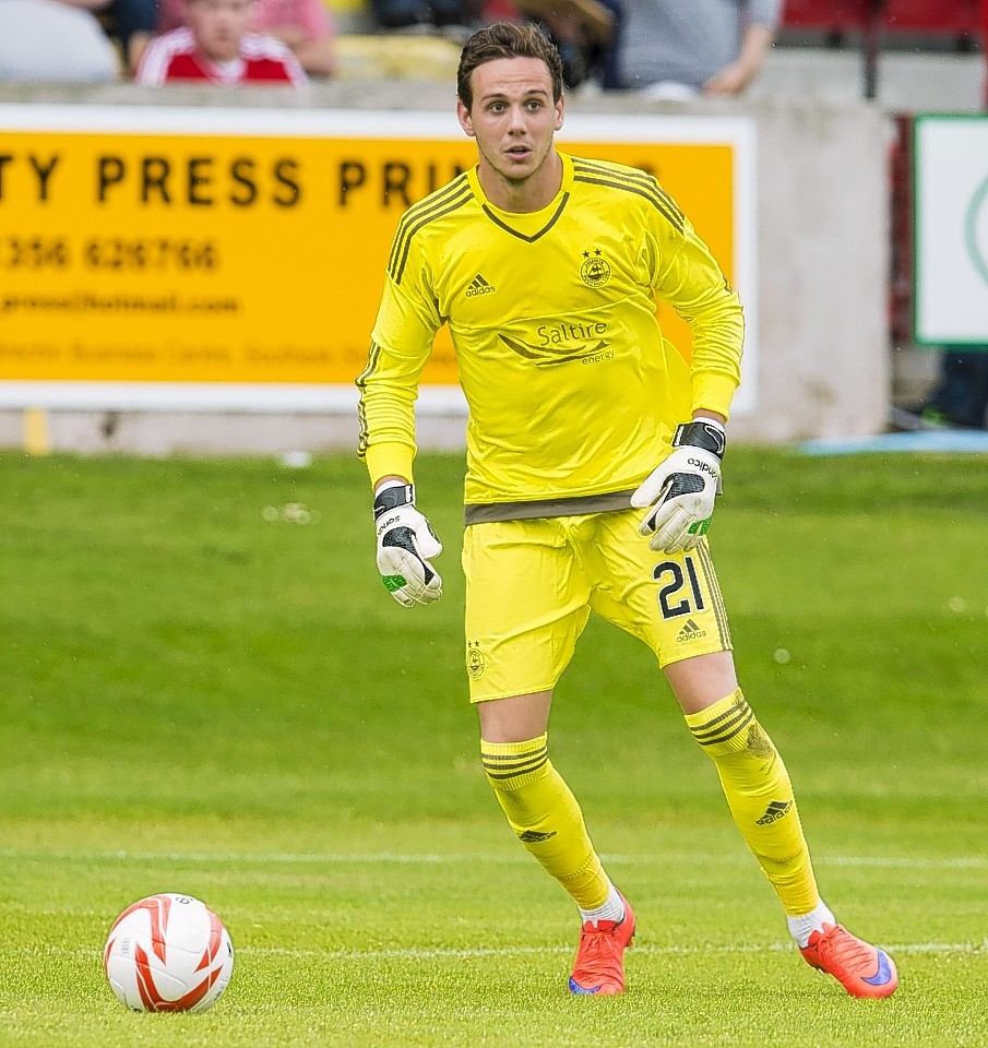 New Dons goalkeeper Danny Ward made his debut from the bench