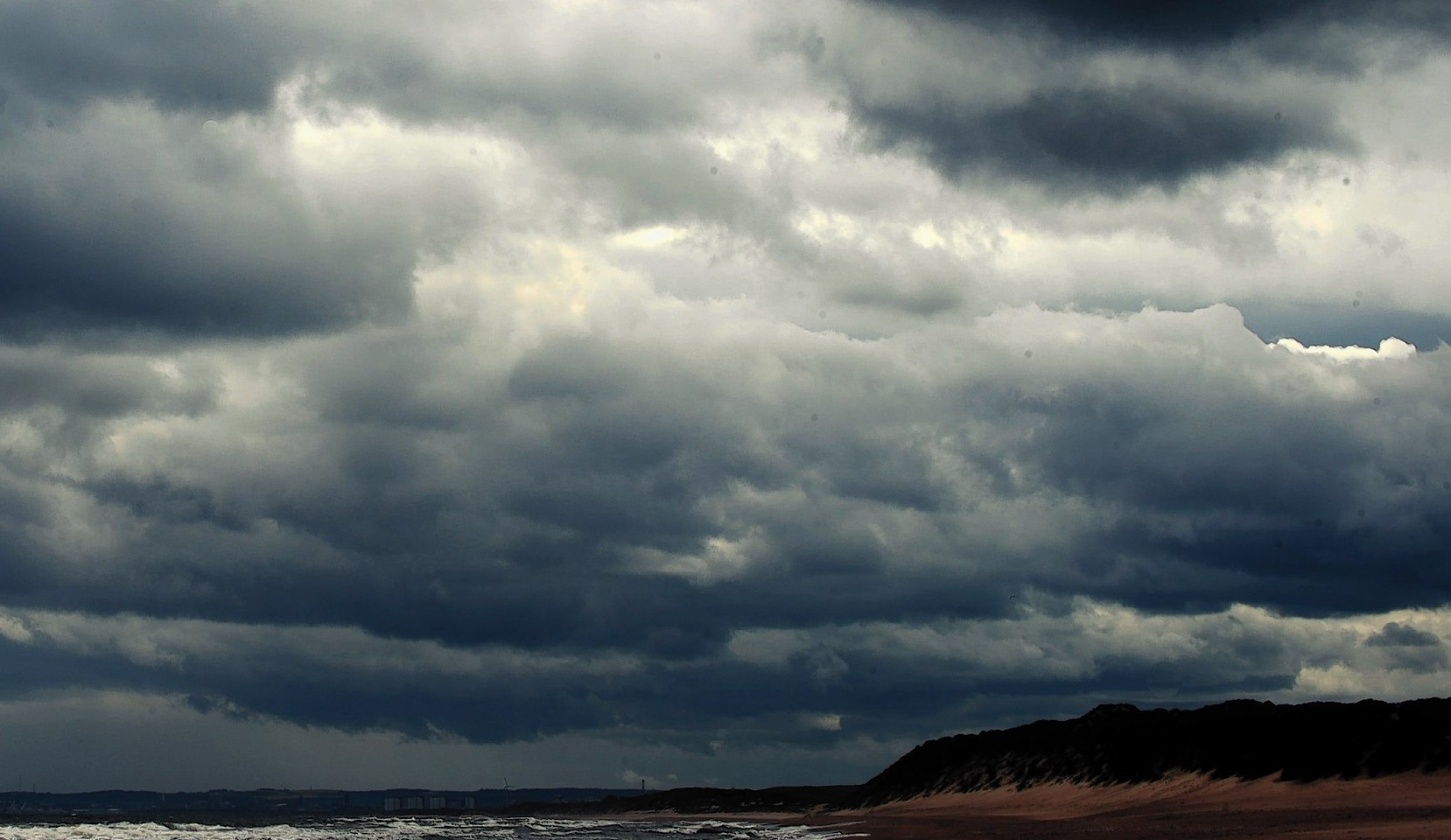 Storm clouds and high winds