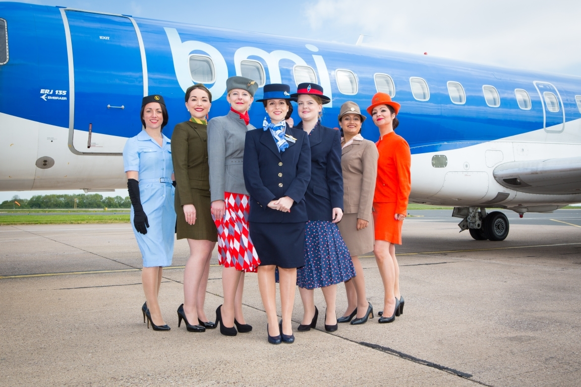 A look back at BMI airline uniforms through the years
