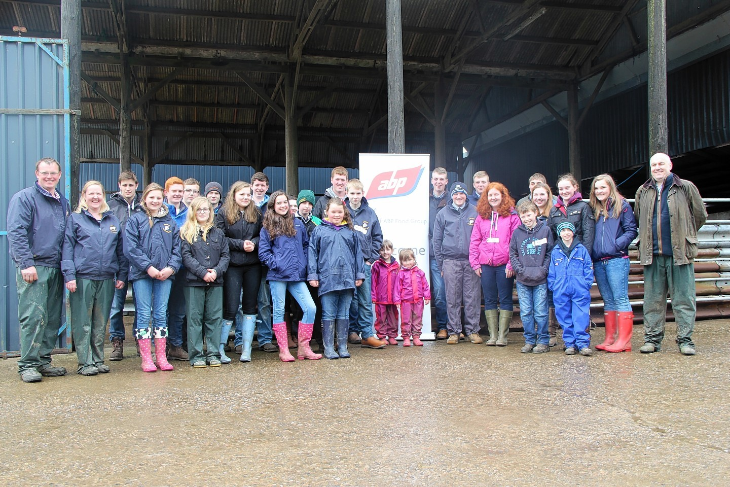 The youngsters at the Charolais stockjudging event