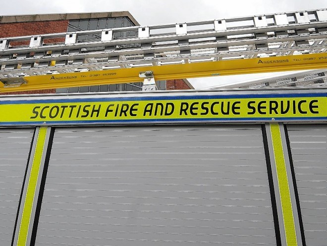 Firefighters have tackled a fire on a boat in Orkney